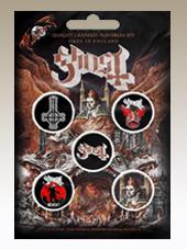 Ghost - Set 5 Pins (2,5Cm)