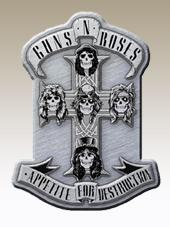 Guns N Roses - Cross Metal Pin (4x2,5Cm)