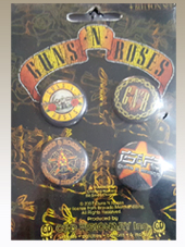 Guns N Roses - Set 4 Buttons (2,5Cm)