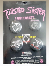 Twisted Sister - Set 4 Pins (2,5Cm)