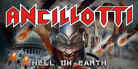 <strong>May 2020:</strong> JRR is proud to announce new Ancillotti album, entitled 'Hell on Earth', will be available on vinyl format, kindly licensed by Pure Steel Records. First 100 copies in red Lp. Expect the usual lethal dose of classic HM! (Click for details)