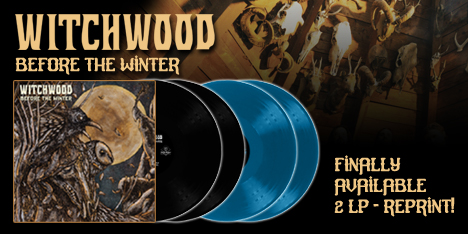 <strong>May 2021:</strong>finally 'Before the Winter', latest appreciated album of Witchwood, considered one of the best retro-rock bands of the last decade, will be available again on 2 Lp. First 100 copies in aqua blue vinyls. (Click for details)