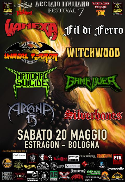 ACCIAIO ITALIANO FESTIVAL 7, vanexa, witchwood, fil di ferro, jolly roger records