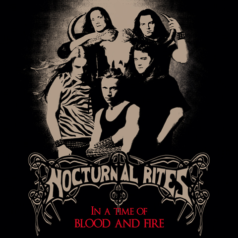 nocturnal rites, in a time of blood and fire, heavy metal, jolly roger records, black beard