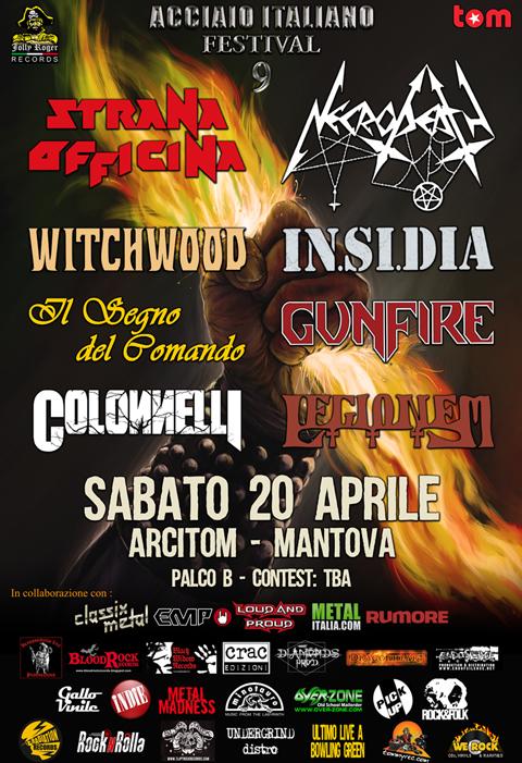 ACCIAIO ITALIANO FESTIVAL, STRANA OFFICINA, WITCHWOOD, JOLLY ROGER RECORDS