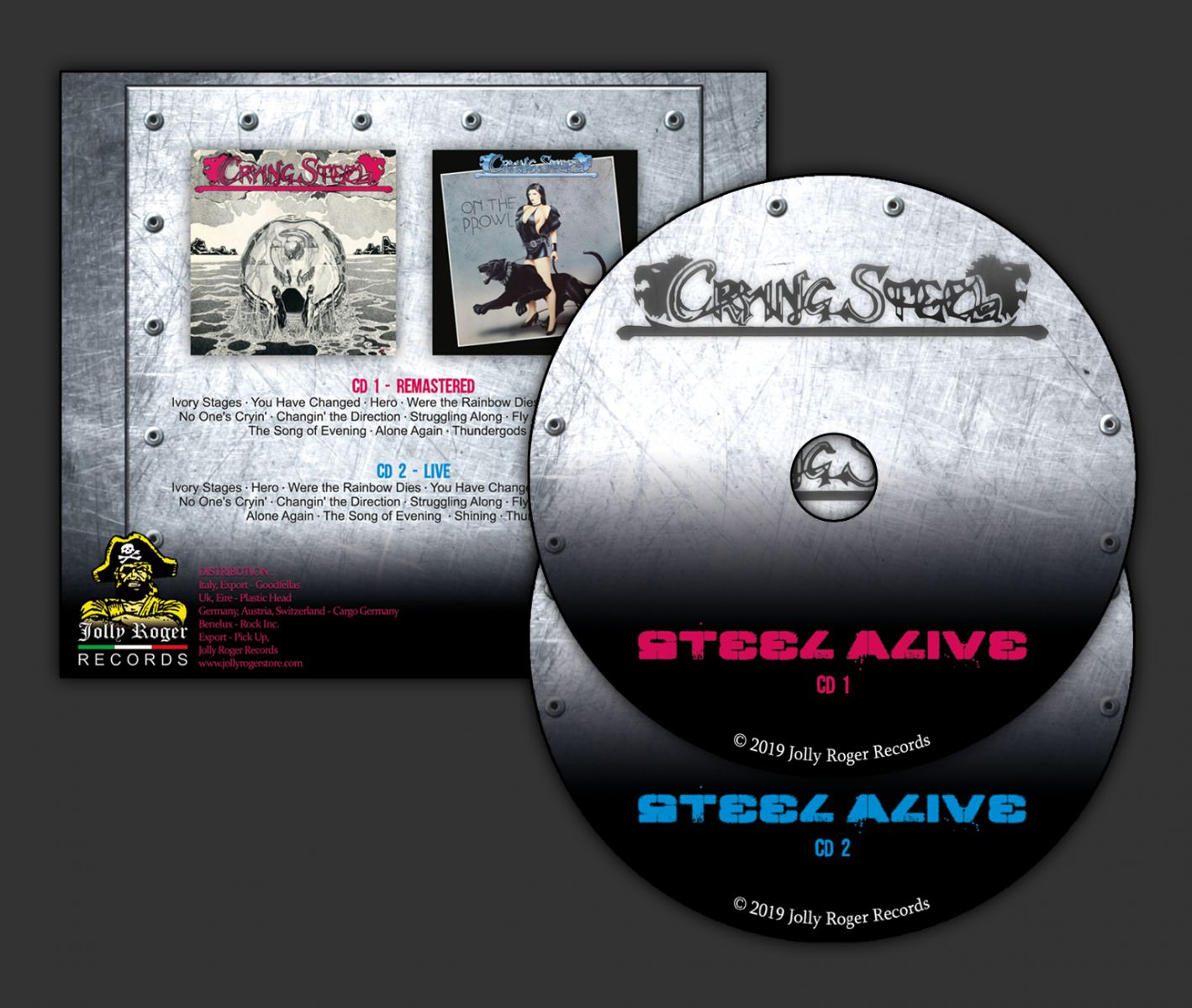 crying steel, crying steel on the prowl, crying steel ep