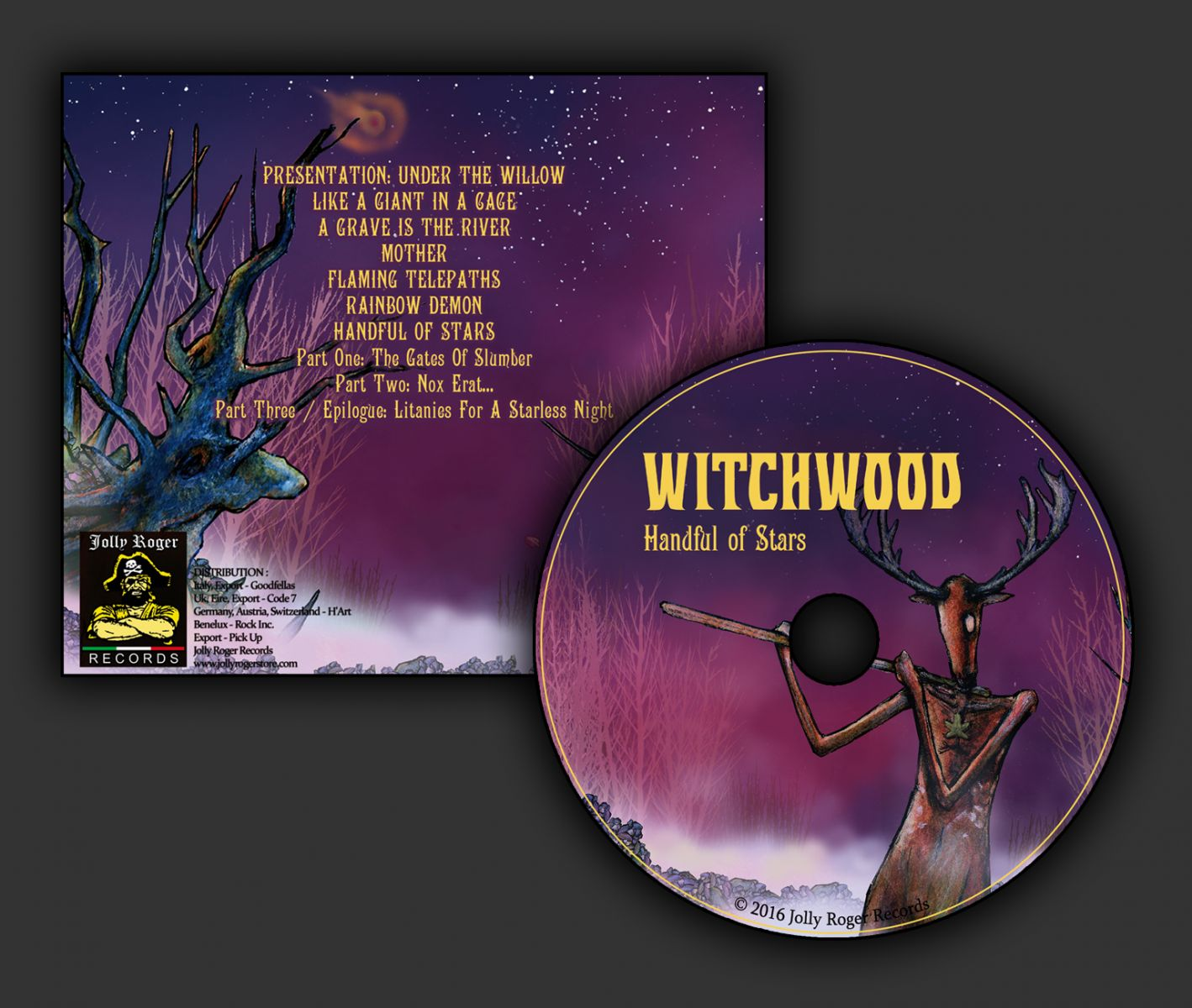 witchwood, litanies from the woods, handful of stars, jolly roger records, blue oyster cult, uriah heep